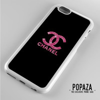 Pink Glitter Sparkly Chanel iPhone 6 Case Cover