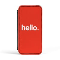 Hello Premium Faux PU Leather Case Flip Case for Apple iPhone 5 / 5s by textGuy