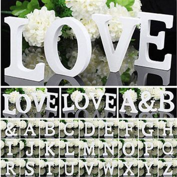 Wedding Decorations Table White Alphabet Wooden