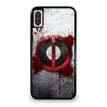 DEADPOOL RESOLUTION BLOOD MARVEL iPhone 5/5S/SE 5C 6/6S 7 8 Plus X/XS Max XR Case Cover