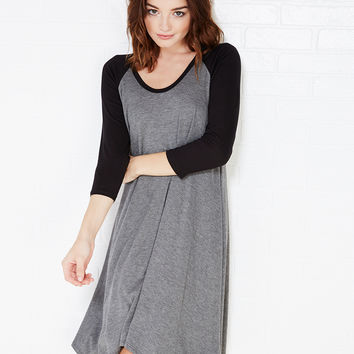 Swingy Baseball T-Shirt Dress | Wet Seal