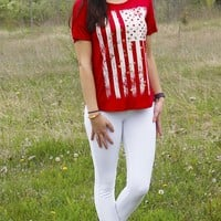 Graphic American Flag T-shirt