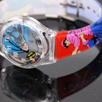 Clear Wrist Quartz Watch Transparent boy girl batman = 1927817860