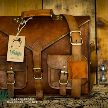 Messenger Bag for Mens Women Military Style Bag Unisex Brown Leather Satchel Leather Laptop Bag Handmade Bag Crossbody Bag Vintage WW2 Bag