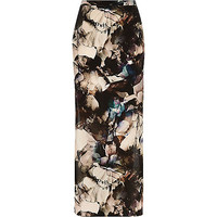 River Island Womens Purple print woven maxi skirt