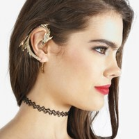 Golden Dragon Ear Cuff