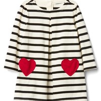 Love stripe pleat dress | Gap
