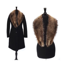 Vintage 1950s 60s Brown Fur Collar Detachable Fur Collar Hollywood Glamour 1940s Mad Men Pin Up Girl Victorian Fur Stole Mink Fur Coat