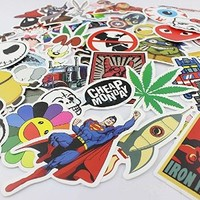 200pcs Random Music Film Vinyl Skateboard Guitar Travel Case Sticker Lot Pack Decals