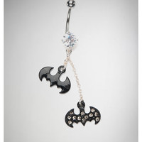 14 Gauge Batman Dangle Banana Belly Button Ring