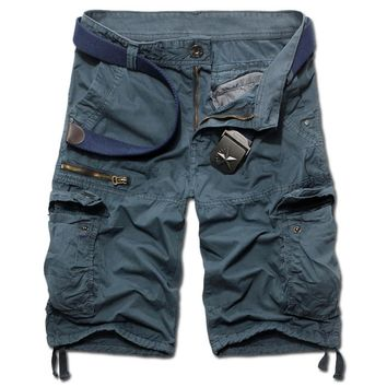 2017 New Summer Men's Camouflage Cargo Fashion Short Pant Man Pockets Loose Beach Pants Summer Mens Outwear Short Trouses 952