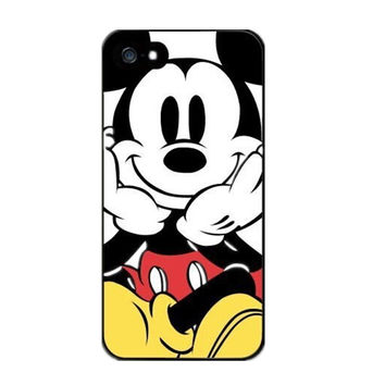Super Cute Mickey Mouse Case Protective Phone Hard Cover Cases For iPhone 4 4S 5 5S  5C  6 7 Plus 6s Plus Coque Fundas
