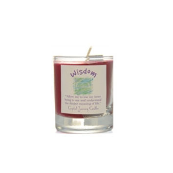 Wisdom Soy Glass Votive Candle