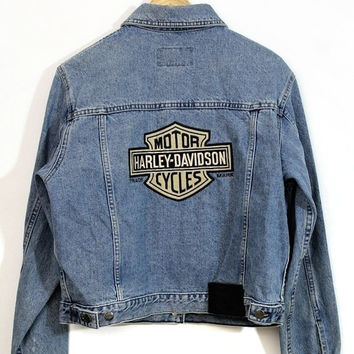 Vintage 80/90's Harley Davidson Denim Jacket Medium