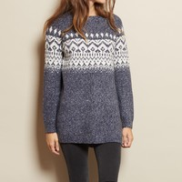 Jacquard Sweater Tunic