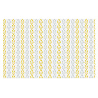 "Julie Hamilton ""Lemon Pod"" Yellow Gray Decorative Door Mat"