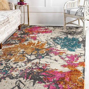 0143 Multi Color Over-Dyed Contemporary Area Rugs