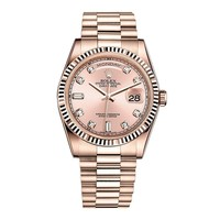 Rolex Day-Date President 36 Everose Gold Watch 118235 Diamond Dial
