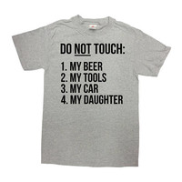 Funny Dad T Shirt Daddy TShirt Dad Gift Ideas Fathers Day Present Father Clothes Dad Clothing Daddy Shirt Do Not Touch Mens Tee - SA799