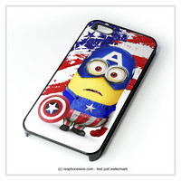 Captain America Despicable Me Minion  iPhone 4 4S 5 5S 5C 6 6 Plus , iPod 4 5 , Samsung Galaxy S3 S4 S5 Note 3 Note 4 , HTC One X M7 M8 Case