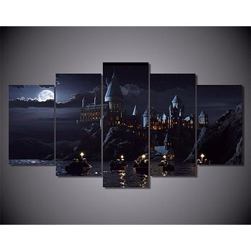 5Piece Wall Art Canvas Prints Harry Potter School Movie Posters Wall Painting Modular Art Picture For Living Room Home Decor