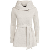 Cream Belted Snood Coat