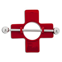 Red Nurse First Aid Cross Nipple Shield