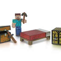 J!NX : Minecraft Core Player Survival Pack Action Figure
