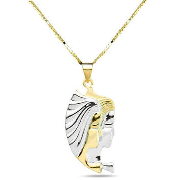 "18k gold plated sterling silver Zodiac sign ""Gemini"" necklace in gift box"
