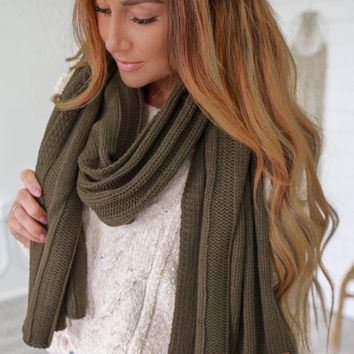 Just For You Scarf - Olive