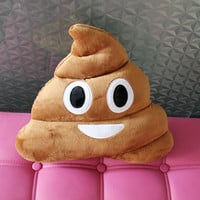 Pile of Poo Emoticon Pillow