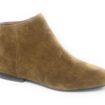ICIKAB3 Lucky Brand Gaines Tapenade Oiled Suede Booties