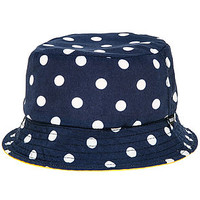 The Polka Reversible Bucket Hat in Yellow
