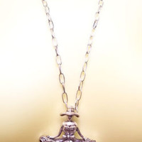 Large DANCING LADY pendant NECKLACE statement jewelry #jewls1012