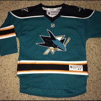 Sale!! Reebok San Jose SHARKS Hockey Jersey NHL Shirt