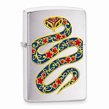 Zippo Year Of The Snake Brushed Chrome Lighter