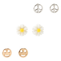 PS from Aero  Kids' Daisy Stud Earring 3-Pack