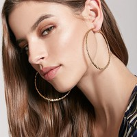 Hammered Twisted Hoops