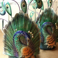 Peacock Candle Holders