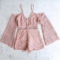 bold crochet overlay romper - more colors