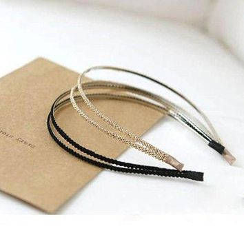 DCCKWJ7 1 pc Fashion Metal Crystal Headband Head Piece Hairbands Hair Band Jewelry Accessories for Women