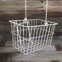 Wire Basket Vintage Bicycle Basket Industrial Wire Basket Industrial Wire Basket Metal Basket with Handle Metal Basket  Storage Basket