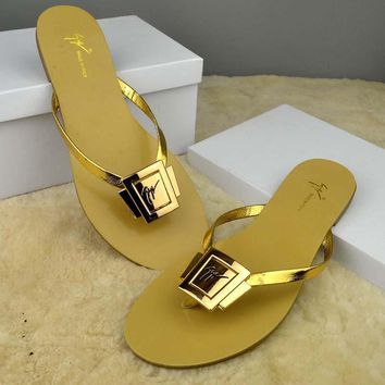 YSL Women Casual Fashion Flat Sandal Slipper Shoes