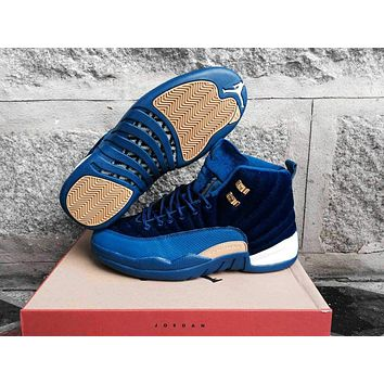 Air Jordan 12 Retro AJ12 Blue Velvet 41-47