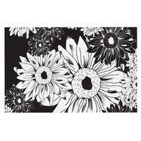 "Laura Escalante ""Midnight Florals"" Black Sunflower Decorative Door Mat"