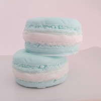 Blueberry Cream French Macaron . Vegan . Glycerin Soap