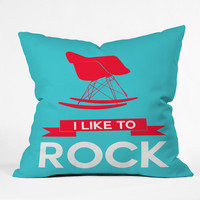 Naxart I Like To Rock 1 Throw Pillow