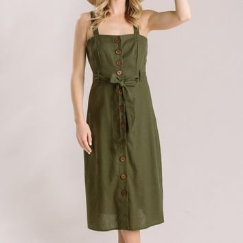 Sawyer Olive Button Dress