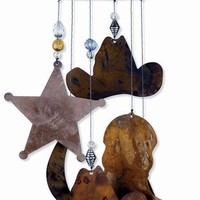 Sunset Vista Horsing Around Western Wind Chime, 12-Inch Long
