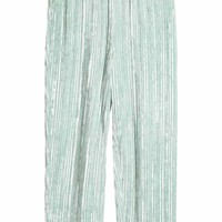 Crushed velvet trousers - Mint green - Ladies | H&M GB